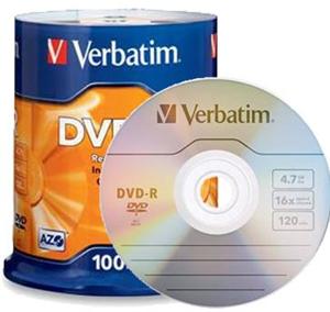 image relating to Verbatim Dvd R Printable referred to as Verbatim Dvd-r 4.7gb 16x White Vast Printable 25 Pack Upon Spindle