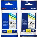 Brother Tze223 9mm X 8m Blue On White Tape | 77-TZE223