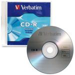 Verbatim Cd-r 700mb 52x 10 Pack With Slim Cases | 77-94935