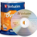Verbatim Dvd-r 4.7gb 16x Wht Wide Thermal Printable 50 Pack On Spindle | 77-95211