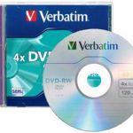 Verbatim Dvd-rw 4.7gb 2x 5 Pack With Jewel Cases | 77-95044
