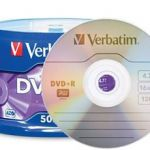 Verbatim Dvd+r 4.7gb 16x 5 Pack With Jewel Cases | 77-95049