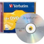 Verbatim Dvd+rw 4.7gb 4x 5 Pack With Jewel Cases | 77-95043