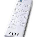 Sansai 8 Way Surge Powerboard With 4 X Usb Charging Ports | 77-PAD-4088
