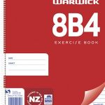Warwick Notebook 8b4 50 Leaf Spiral Ruled 7mm 230x180mm (10 items) | 61-113310
