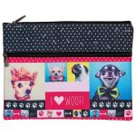 Spencil Woof Pencil Case A4 2 Zip | 61-113687