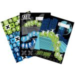 Spencil Skate Paint Book Cover A4 Pack 3 Assorted | 61-113721