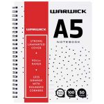 Warwick Notebook A5 Wiro No Need To Cover 50 Leaf Ruled (5 items) | 61-113803