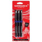 Warwick Pen Rollerball Capped Medium Blue 3 Pack | 61-117386