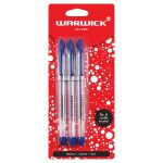 Warwick Pen Gel Capped Medium Blue 3 Pack | 61-117389
