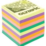 Olympic Memo Cube Fluoro Full Height Refill | 61-120552