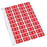 Codafile Label Numeric 0 25mm Pack 5 Sheets | 61-162500