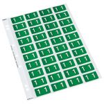 Codafile Label Numeric 1 25mm Pack 5 Sheets | 61-162501