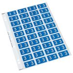 Codafile Label Numeric 3 25mm Pack 5 Sheets | 61-162503
