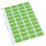 Codafile Label Numeric 7 25mm Pack 5 Sheets | 61-162507