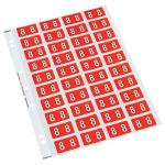 Codafile Label Numeric 8 25mm Pack 5 Sheets | 61-162508