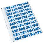 Codafile Label Alpha D 25mm Pack 5 Sheets   61-162553