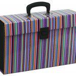 Fm File Expanding Vivid Stripe Passion Purple 19 Pocket | 61-170217
