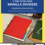 Avery Dividers A4 5 Tab Coloured Manilla Extra Wide | 61-171412