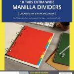 Avery Dividers A4 10 Tab Coloured Manilla Extra Wide | 61-171413