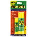 Amos Glue Stick 35gm Plus 8gm Multipack Jumbo And Small (12 items) | 61-200003