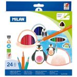 Milan Coloured Pencils Triangular Pack 24 Assorted Colours | 61-214176