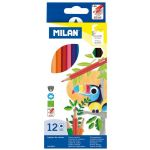 Milan Coloured Pencils Hexagonal Pack 12 Assorted Colours | 61-214179