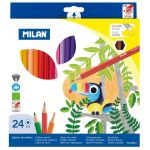 Milan Coloured Pencils Hexagonal Pack 24 Assorted Colours | 61-214180