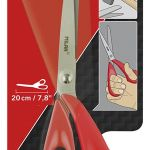 Milan Office Scissors Red 200mm 7.8 Inch | 61-214210