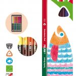 Milan Bicoloured Pencils Pack 12 Assorted Colours | 61-214224