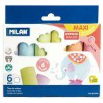 Milan Non Dust Maxi Chalk Pac 6 | 61-214230