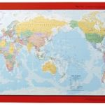 Gillian Miles Wallchart World Map Pacific Centred | 61-227379