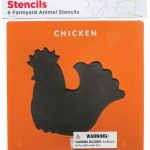 Ec Stencil Set Farmyard Set Of 6 | 61-227458