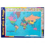 Gillian Miles Wall Chart World Maps With Flags | 61-227750