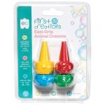 Ec First Creations Easy Grip Animal Crayons Set 4 | 61-227930