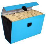Fm File Expanding Vivid Blue 19 Pocket | 61-231089