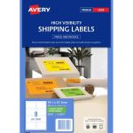 Avery Shipping Label L7165fg Fluoro Green 99.1x67.7mm Fsc Mix Credit 8up 25 Sheets | 61-231448