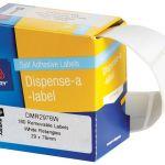 Avery Label Dispenser Dmr2976w 29x76mm White 180 Box | 61-231717