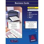 Avery Business Cards Ij39 Leathergrain 200gsm 20 Sheets Inkjet | 61-237900