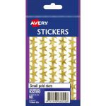 Avery Label Stars Small Gold 90 Pack | 61-238108