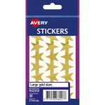 Avery Label Stars Large Gold 36 Pack | 61-238110