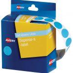Avery Label Dispenser Dmc14lb Light Blue Round 14mm 1050 Pk | 61-238251