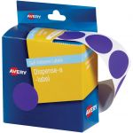 Avery Label Dispenser Dmc24p Purple Round 24mm 500 Pack | 61-238252