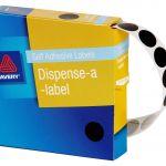 Avery Label Dispenser Dmc14bk Black Round 14mm 1050 Pack | 61-238254