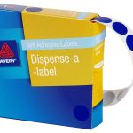 Avery Label Dispenser Dmc14b Blue Round 14mm 1050 Pack | 61-238255