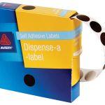 Avery Label Dispenser Dmc14br Brown Round 14mm 1050 Pack | 61-238256