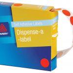 Avery Label Dispenser Dmc14o Orange Round 14mm 1050 Pack | 61-238258