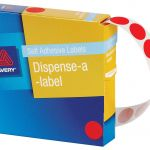 Avery Label Dispenser Dmc14r Red Round 14mm 1050 Pack | 61-238260