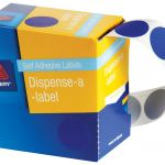 Avery Label Dispenser Dmc24b Blue Round 24mm 500 Pack | 61-238265