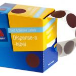Avery Label Dispenser Dmc24br Brown Round 24mm 500 Pack | 61-238266